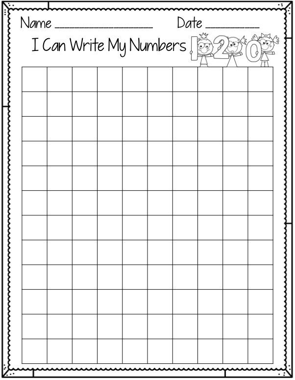 Blank Number Chart. Blank ...