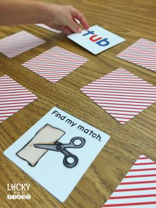 Short Vowel Memory Game using Shutterfly Puzzles by Lucky to Be in First
