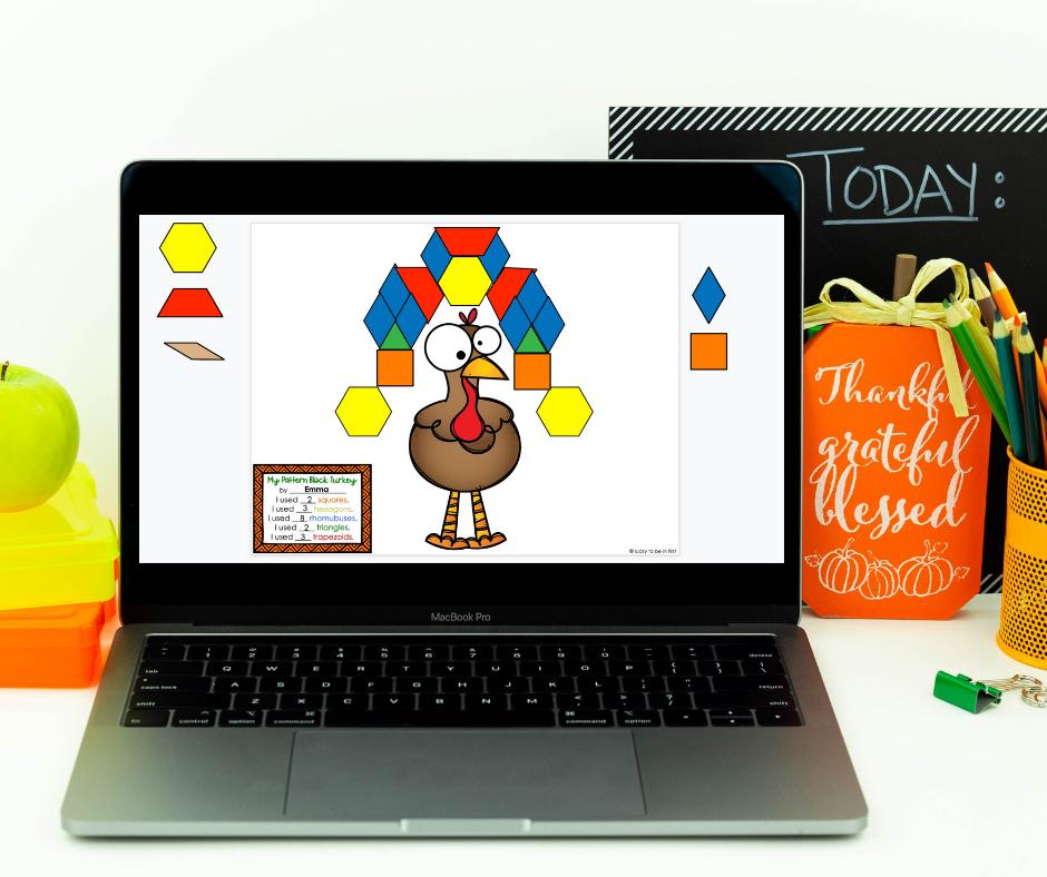 Pattern Block Turkeys are fun to make in Google Drive!