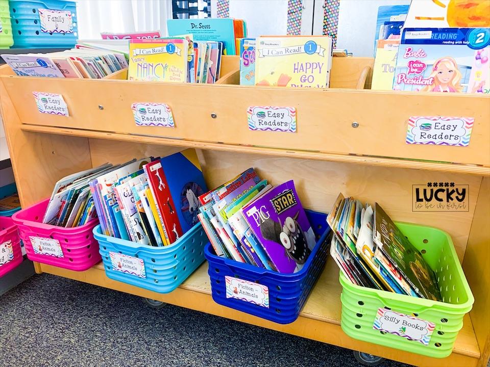 1st Grade Classroom Library Setup